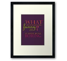 Funny Little Brains Framed Print