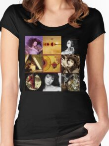 Kate Bush Album Compilation Women's Fitted Scoop T-Shirt