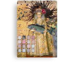 Whimsical Pisces Woman Renaissance fishing Gothic Canvas Print