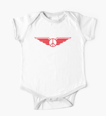 Peace Wings One Piece - Short Sleeve