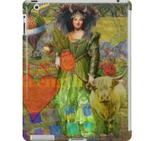 Vintage Taurus Gothic Whimsical Collage Woman Surreal iPad Case/Skin