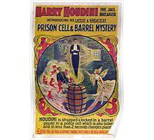 Harry Houdini Vintage Poster Art- Barrel Mystery! Poster