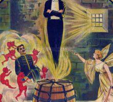 Harry Houdini Vintage Poster Art- Barrel Mystery! Sticker