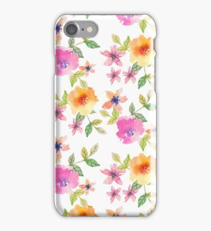 Watercolor summer flowers iPhone Case/Skin