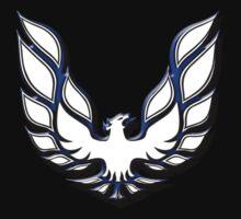 White & Blue Firebird One Piece - Short Sleeve