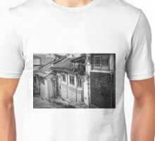 South Korean Hanok Street BW Unisex T-Shirt
