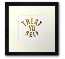 Treat Yo Self Parks and Rec Framed Print