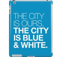 The City is Blue & White iPad Case/Skin