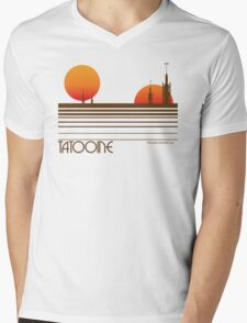 Tatooine Mens V-Neck T-Shirt