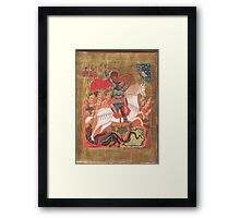 Saint George and the Dragon Framed Print