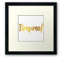 Fireproof One Direction Song Framed Print