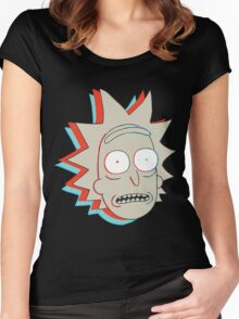 Rick and Morty: 3D Rick Women's Fitted Scoop T-Shirt