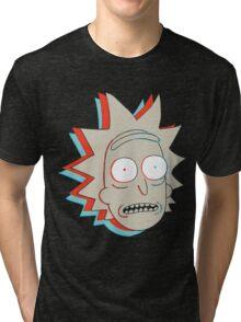 Rick and Morty: 3D Rick Tri-blend T-Shirt
