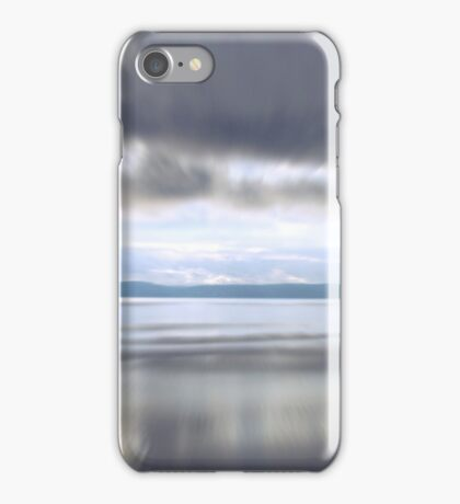 Puget Sound Cloudy Reflection with Blur iPhone Case/Skin