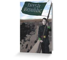 Eamon Bulfin and the Raising of the Flag Greeting Card