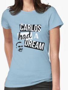 Carlos Had A Dream - Blue Womens Fitted T-Shirt