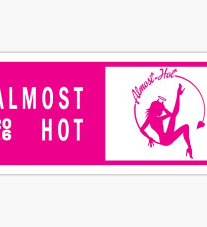 Almost Hot Magenta Concert Ticket Sitting in the Moon Dolly Script Sticker
