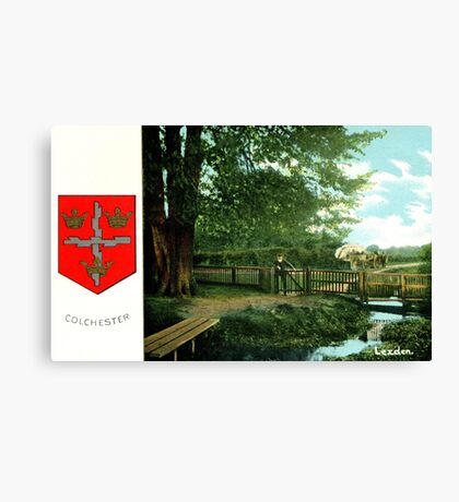 ca 1900 Lexden Colchester and coat of Arms Canvas Print