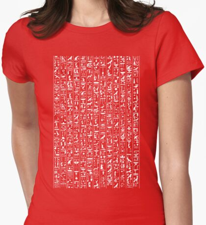Hieroglyphics B&W INVERTED Womens Fitted T-Shirt