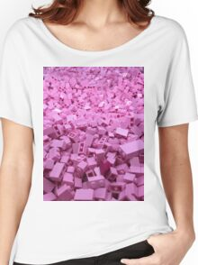 Pink legos Women's Relaxed Fit T-Shirt