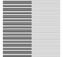 The Piano Black and White Keyboard with Horizontal Stripes Photographic Print