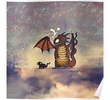 Dragons in the rain Poster