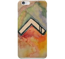 Abstract watercolor chevron iPhone Case/Skin