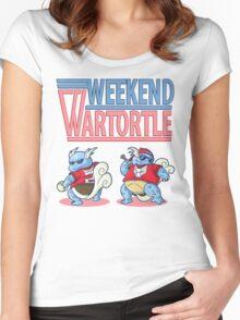 Weekend Wartortle (Pokemon) Women's Fitted Scoop T-Shirt