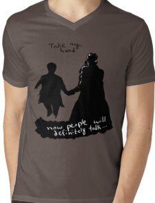 Take My Hand Mens V-Neck T-Shirt