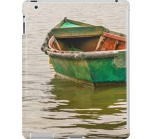 Lonely Old Fishing Boat at Santa Lucia River in Montevideo, Uruguay iPad Case/Skin