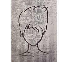 Faceless guy Photographic Print