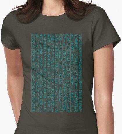 Hieroglyphics Moonstone BLUE Womens Fitted T-Shirt