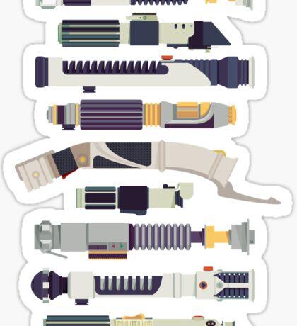 Sabers - Star Wars Inspired Minimalist Infographic Sticker