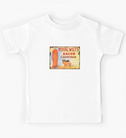 Vintage Bacon Sign Kids Tee