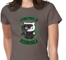 Resistance Is Adorable Womens Fitted T-Shirt