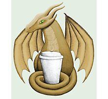 Latte Dragon (green eye) Photographic Print