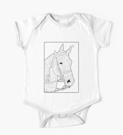 Labyrinth horse One Piece - Short Sleeve