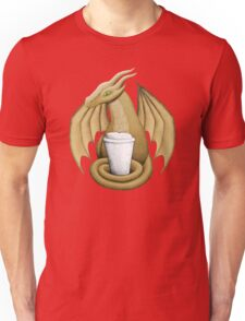 Latte Dragon (green eye) Unisex T-Shirt