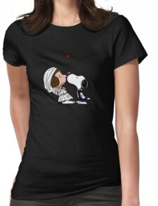 Snoopy Lucy Star Wars Womens Fitted T-Shirt