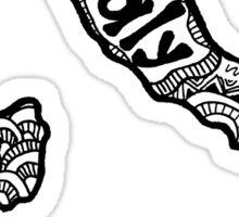 Italy Zentangle Sticker