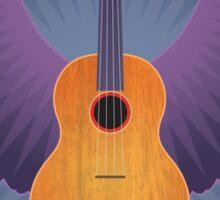 Winged Ukulele Sticker