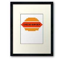 Cloudy with a chance of meatballs - CHEESE BURGER Framed Print