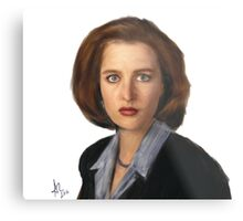 Special Agent Dana Scully Metal Print