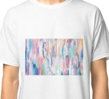 Pastel Feather Pattern Grunge Classic T-Shirt