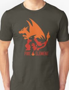 Fire Element Charizard Pokemon Anime and Game T-Shirt