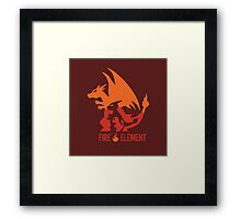 Fire Element Charizard Pokemon Anime and Game Framed Print