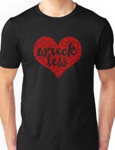"""""""Wreck Less Heart"""" RED HOT Logo Unisex T-Shirt"""