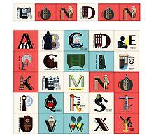 London Alphabet Photographic Print