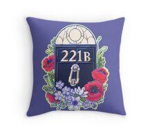 221B Baker Street Throw Pillow
