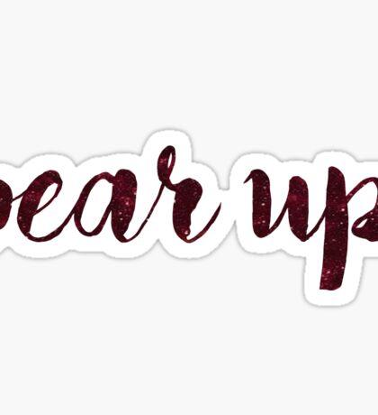 Bear Up Sticker